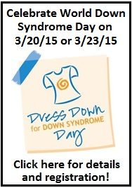 Register today for Dress Down for Down Syndrome Day - 3/20/15